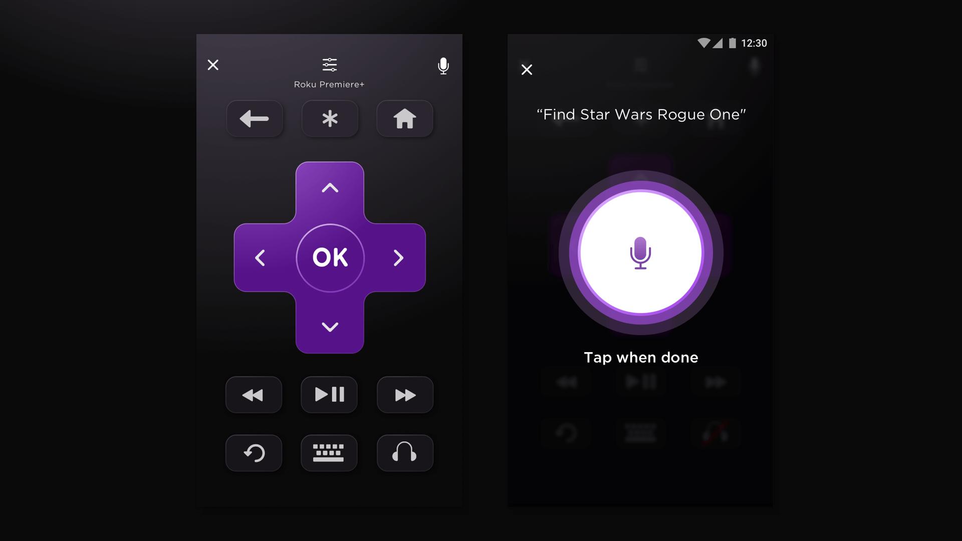 standard and voice screenshot